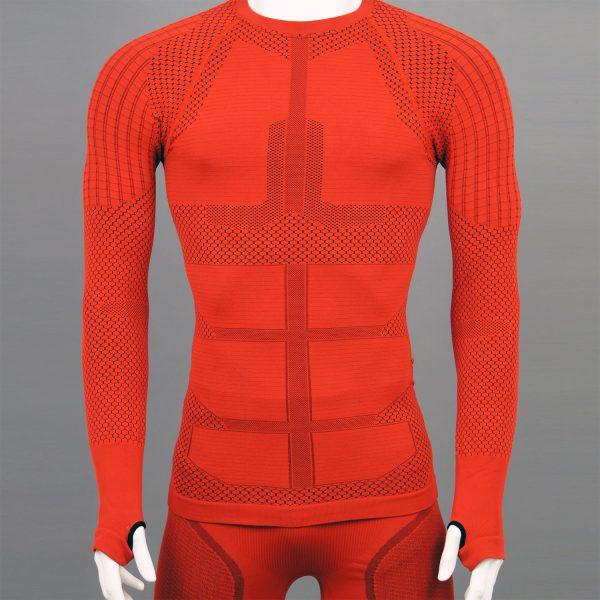 мъжка термо блуза KSport KPROTERM червен цвят - снимка 1