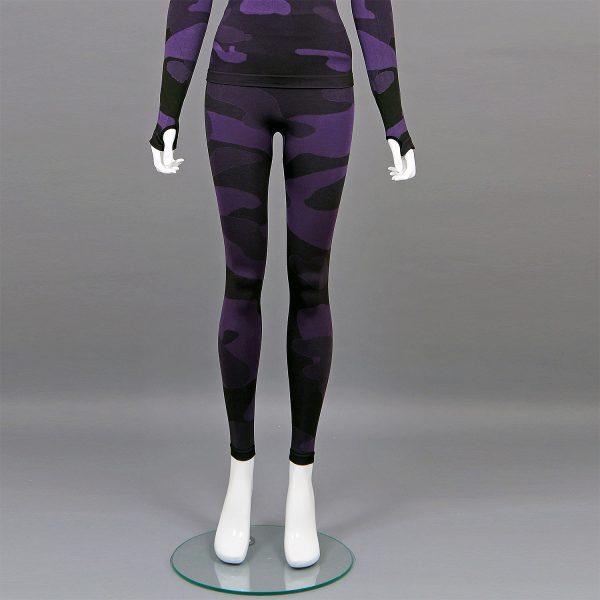 Термо клин дамски цвят лилав камуфлаж - снимка 1