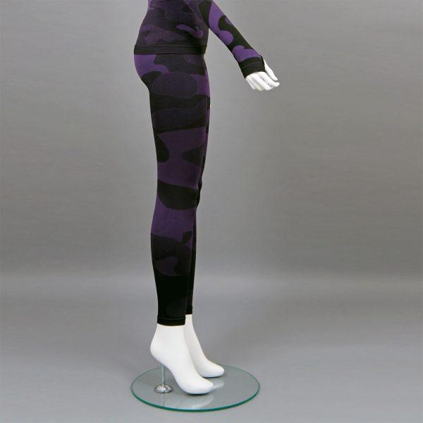 Термо клин дамски цвят лилав камуфлаж - снимка 2