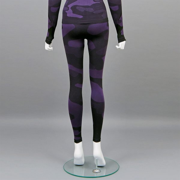 Термо клин дамски цвят лилав камуфлаж - снимка 3