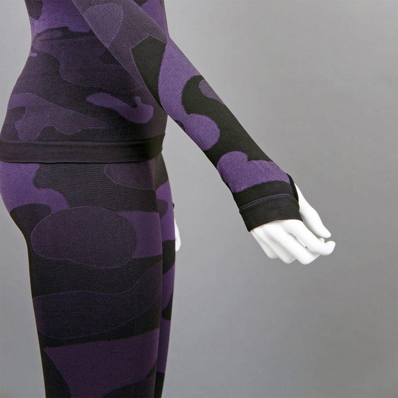 Термо клин дамски цвят лилав камуфлаж - снимка 4