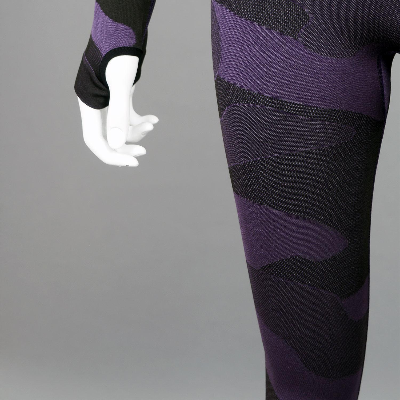 Термо клин дамски цвят лилав камуфлаж - снимка 5