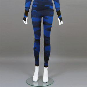 Термо клин дамски цвят тъмносин камуфлаж - снимка 1
