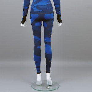 Термо клин дамски цвят тъмносин камуфлаж - снимка 2