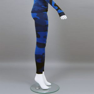Термо клин дамски цвят тъмносин камуфлаж - снимка 3