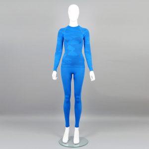 Термо комплект дамски цвят син камуфлаж - снимка 1