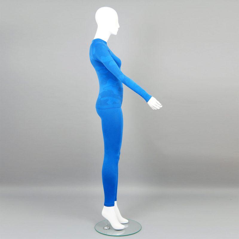 Термо комплект дамски цвят син камуфлаж - снимка 6