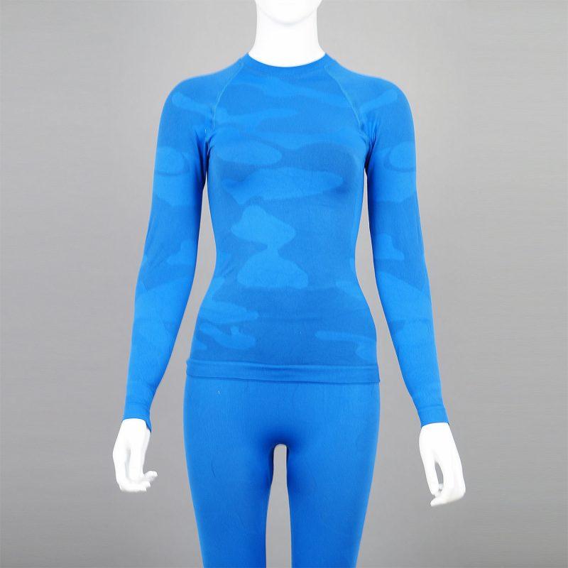 Термо комплект дамски цвят син камуфлаж - снимка 7