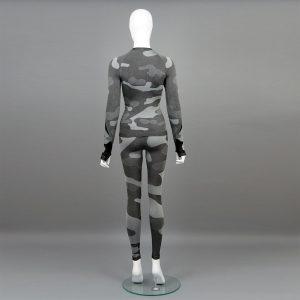 Термо комплект дамски цвят сив камуфлаж - снимка 3