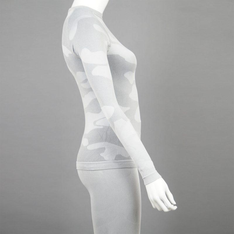 Термо комплект дамски цвят светлосив камуфлаж - снимка 2