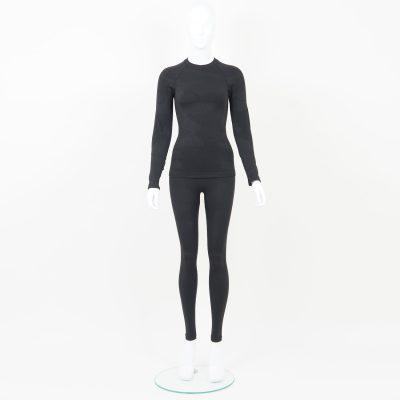 Термо комплект дамски тъмносиво комо - снимка 1