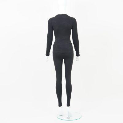 Термо комплект дамски тъмносиво комо - снимка 2