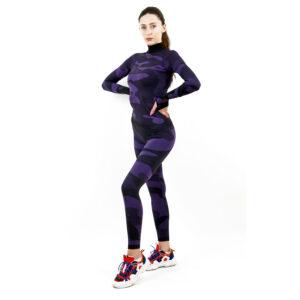 Термо клин дамски марка KSPORT цвят лилав камуфлаж - снимка 1