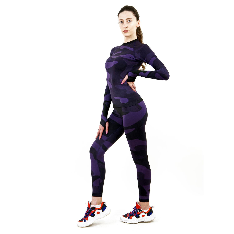 Термо клин дамски марка KSPORT цвят лилав камуфлаж - снимка 2