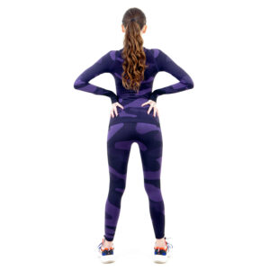 Термо клин дамски марка KSPORT цвят лилав камуфлаж - снимка 4