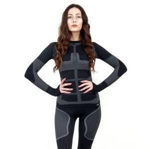 Термо блуза дамска KSPORT серия KPROTERM черен цвят - снимка 1