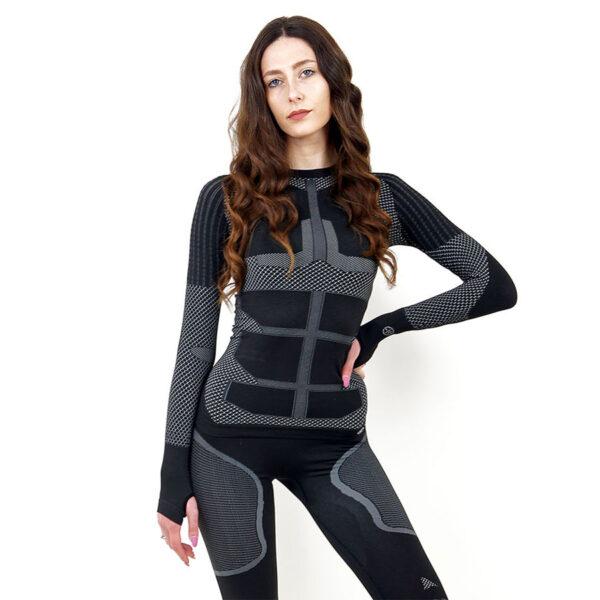 Термо блуза дамска KSPORT серия KPROTERM черен цвят - снимка 3