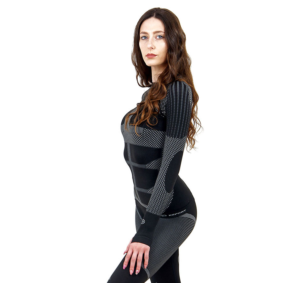 Термо блуза дамска KSPORT серия KPROTERM черен цвят - снимка 4
