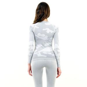 Дамска термо блуза с дълъг ръкав марка KSPORT цвят светлосив камуфлаж - снимка 4