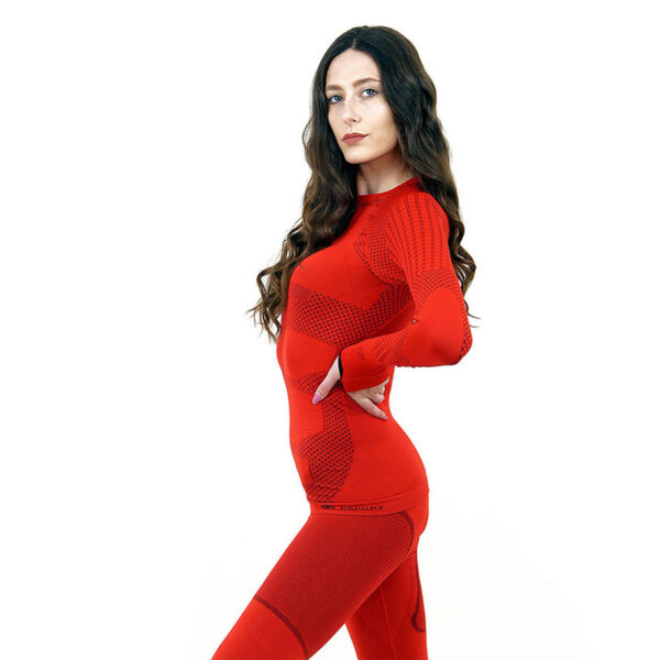 Термо блуза дамска марка KSPORT серия KPROTERM червен цвят - снимка 2
