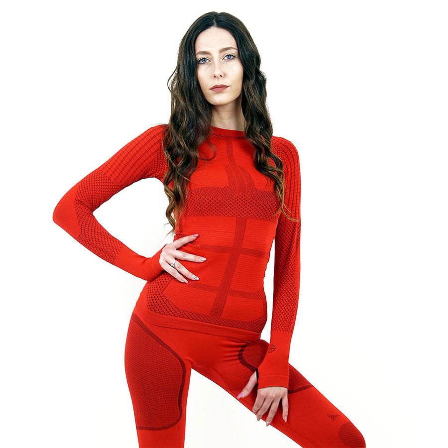 Термо блуза дамска марка KSPORT серия KPROTERM червен цвят - снимка 3