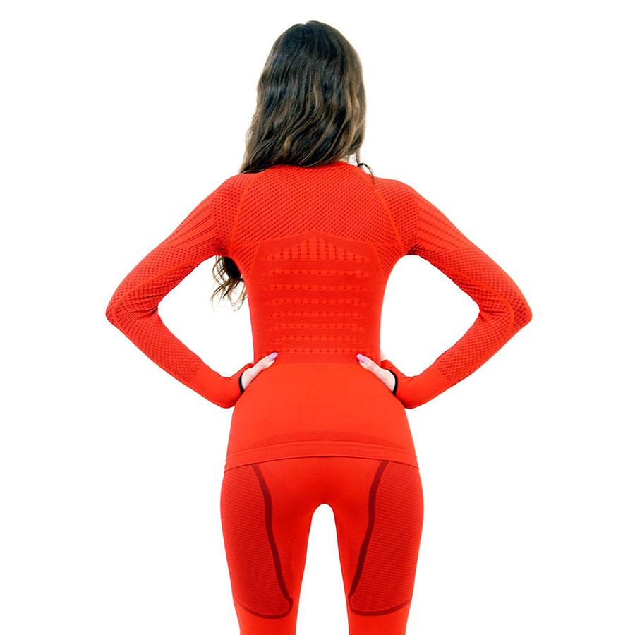 Термо блуза дамска марка KSPORT серия KPROTERM червен цвят - снимка 4