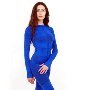 Термо блуза дамска марка KSPORT серия KPROTERM син цвят - снимка 2