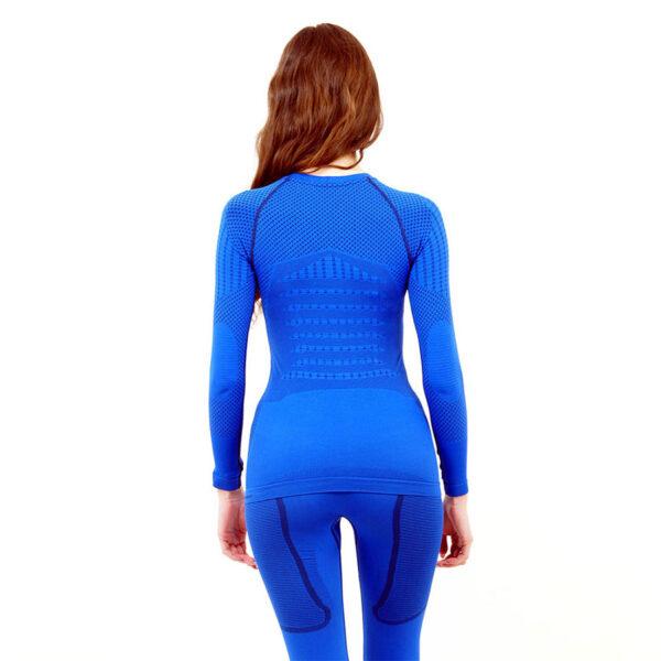 Термо блуза дамска марка KSPORT серия KPROTERM син цвят - снимка 3