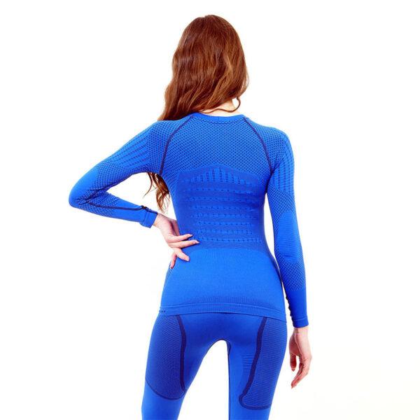 Термо блуза дамска марка KSPORT серия KPROTERM син цвят - снимка 4