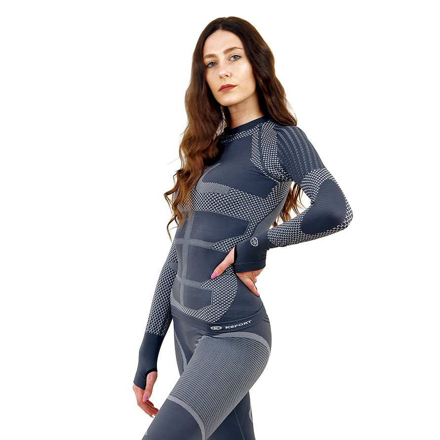 Термо блуза дамска KSPORT серия KPROTERM сива - снимка 1