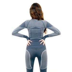 Термо блуза дамска KSPORT серия KPROTERM сива - снимка 2