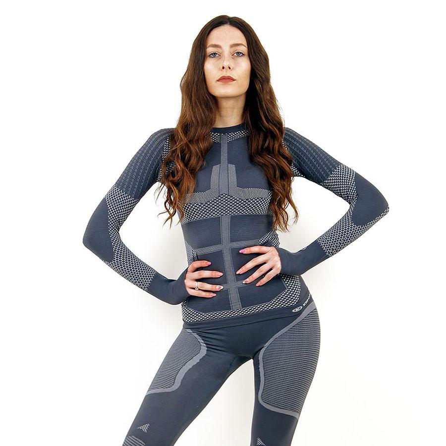 Термо блуза дамска KSPORT серия KPROTERM сива - снимка 3