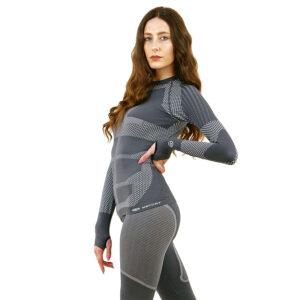 Термо блуза дамска KSPORT серия KPROTERM сива - снимка 4