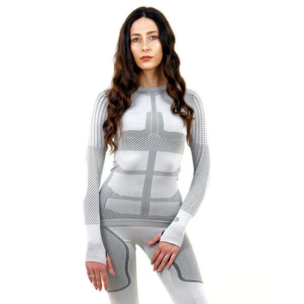 Термо блуза дамска марка KSPORT серия KPROTERM светлосив цвят - снимка 2