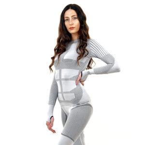 Термо блуза дамска марка KSPORT серия KPROTERM светлосив цвят - снимка 3