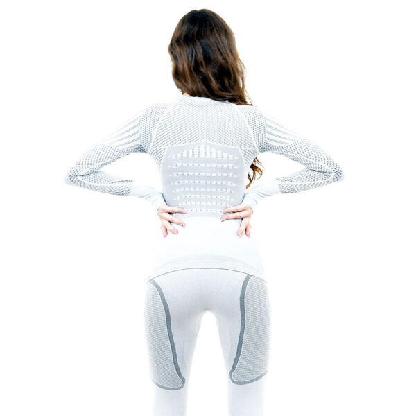 Термо блуза дамска марка KSPORT серия KPROTERM светлосив цвят - снимка 4