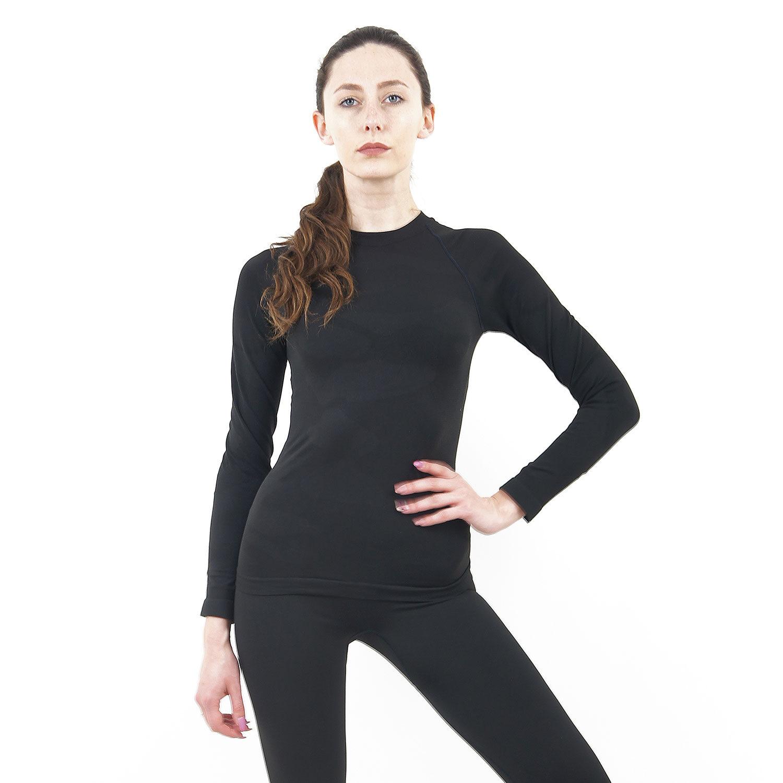 Дамска термо блуза с дълъг ръкав марка KSPORT цвят тъмносиво комо - снимка 1