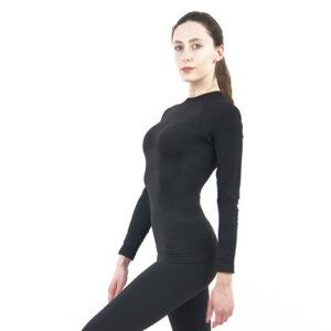 Дамска термо блуза с дълъг ръкав марка KSPORT цвят тъмносиво комо - снимка 3