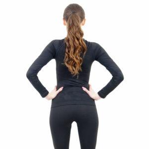 Дамска термо блуза с дълъг ръкав марка KSPORT цвят тъмносиво комо - снимка 4