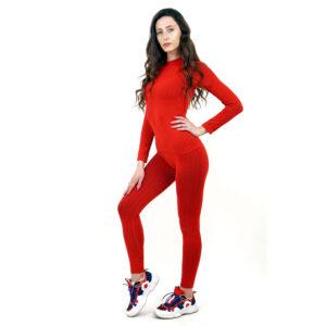 Термо бельо марка KSPORT дамски комплект червен цвят - снимка 2