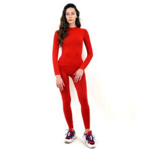 Термо бельо марка KSPORT дамски комплект червен цвят - снимка 3