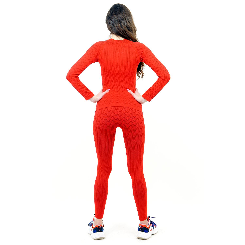Термо бельо марка KSPORT дамски комплект червен цвят - снимка 4
