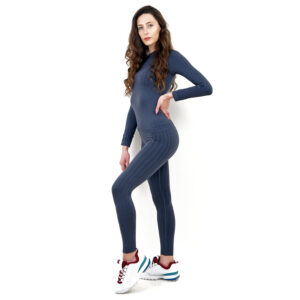 Термо бельо марка KSPORT дамски комплект сив цвят - снимка 3