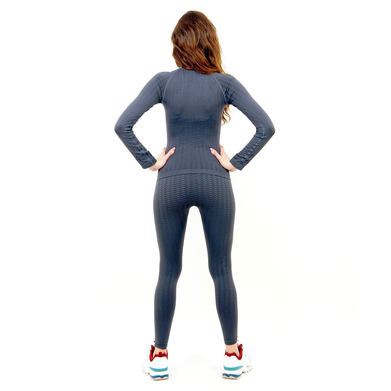 Термо бельо марка KSPORT дамски комплект сив цвят - снимка 4