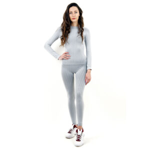 Термо бельо марка KSPORT дамски комплект цвят светлосив - снимка 1