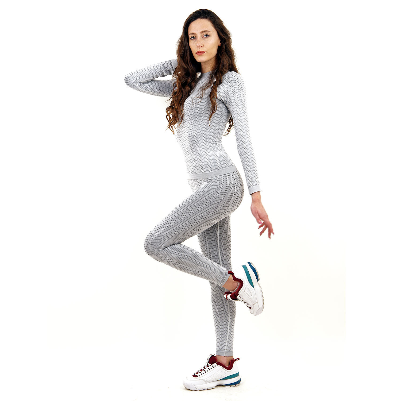 Термо бельо марка KSPORT дамски комплект цвят светлосив - снимка 2