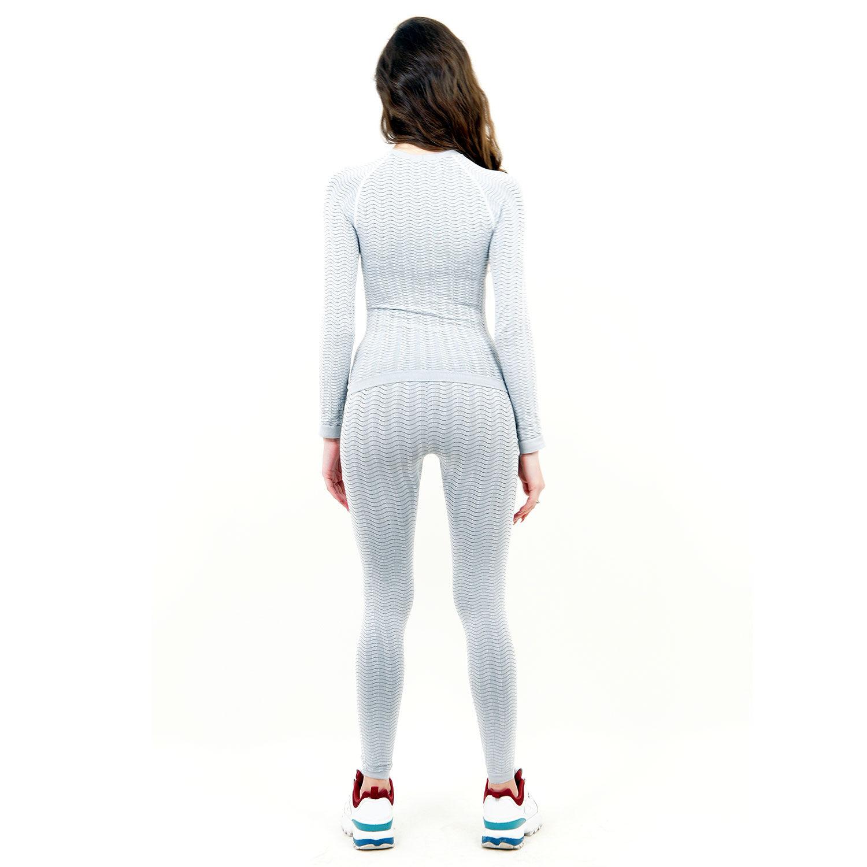 Термо бельо марка KSPORT дамски комплект цвят светлосив - снимка 4