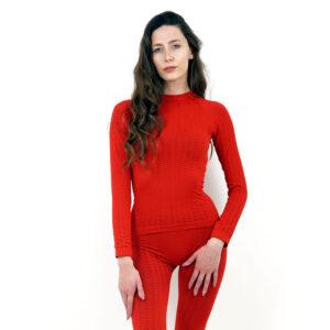 Термо блуза марка KSPORT дамски модел червен цвят - снимка 1