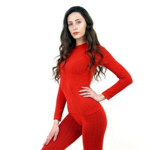 Термо блуза марка KSPORT дамски модел червен цвят - снимка 2