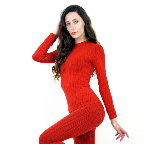 Термо блуза марка KSPORT дамски модел червен цвят - снимка 3